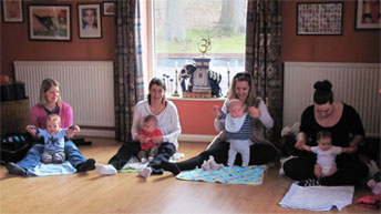 Baby yoga class at The Yoga Room